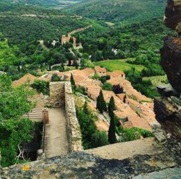 Vue sur Castelnou depuis le Château